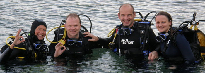 Make your first dive under the direct supervision of your instructor
