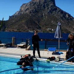 Learn to Dive. Diver certification holidays for beginners. Scuba diving holidays package. Dive vacations to Kalymnos island, Aegean, Greece.
