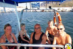 Families enjoy diving all together!