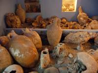 Ancient amphoras in Valsamidis Sea World Museum (Kalymnos Island)