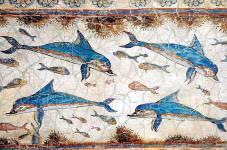 Mosaic from Knossos with underwater scene - Ψηφιδωτό από την Κνωσό με υποβρύχια σκηνή