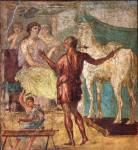 Ο Δαίδαλος δίνει στην Πασιφάη το κούφιο άγαλμα της άσπρης αγελάδας