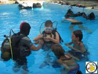 Free try dives at Hotel ELIES pool.